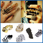 FAD CELEBRITY GOTHIC PUNK ROCK LONG ARMOR KNUCKLE SHIELD DOUBLE FULL FINGER RING