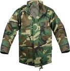 Kids Woodland Camouflage Military M-65 Field Jacket