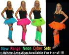 Neon Cyber Tutu Leg Warmers Wrist-cuffs or Garter 1980s Fancy Dress Hen Party UK