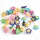 Wholesale Flower Fimo Polymer Clay Spacer Charm Beads 15mm Multi Colors U PICK