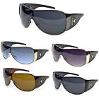 NEW WOMENS KHAN SHIELD AVIATOR SUNGLASSES SHADES 5 COLORS LION DESIGNER M3716KN