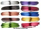 20ft FLAT Anodized Aluminum Wire for Wrapping *4x1.2mm Flat *Many Colors