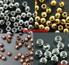 500/3000pcs Silver/Golden/Nickel/Copper Plated Round Spacer Beads Jewelry Making