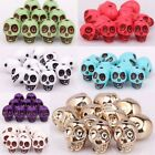 New Design Charm Acrylic Turquoise Skull Spacer Beads Making Charm Bracelet 13mm
