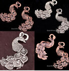 10pcs Antique Silver/Copper Peacock Charm Animal Pendants Jewelry Making 35X29mm