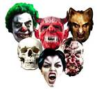 HALLOWEEN Card Party Face Masks scary horror mask monsters zombie trick or treat