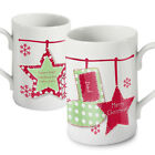 PERSONALISED FINE CHINA CHRISTMAS MUG, FRIENDS, FAMILY unique present gift idea