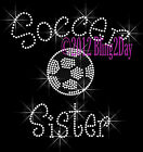 Soccer Sister - C Rhinestone Iron on Transfer Hot Fix Bling Sports School