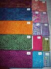 Geometric batik fabrics 100% cotton from India zig zags dots stripes 1 yd x 44""