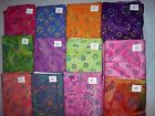 FLOWERS batik fabrics 100% cotton from India Citrus Garden Jewel Box Group 1