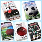 PERSONALISED RUGBY FOOTBALL F1 DARTS CRICKET BOOKS FATHERS DAY CHRISTMAS PRESENT