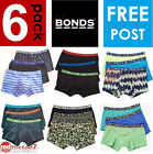 Bonds New Boys Kids Boxer Boy Leg Fit Shorts Trunk Black Size 6 8 10 12 14 16
