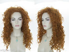 Brave!  Princess Merida Long Fire Red Wavy Curly Costume Wigs