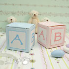 5x5x5cm Blue/Pink Favour Gift Candy Bomboniere Box Baby Shower Party Decoration