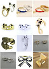 Vintage retro style cat ring / rings, different designs and colours