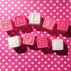 9 Edible Baby Shower Christening TOY ABC NAME BLOCKS Cupcake Toppers Decorations