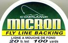 Cortland Micron Environmentally Friendly Fly Line Backing - Choice of Size