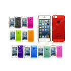 THIN TRANSPARENT HARD BACK CASE COVER FITS APPLE IPHONE 5 FREE SCREEN GUARD