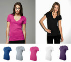 Bella - Deep V-Neck Jersey T-Shirt - 6035 SMALL TO XXL ALL COLORS NEW