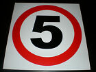 5 (MPH) Speed Limit Semi Rigid Plastic Sign Choice Of Sizes Restriction