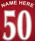 Football Name & Number Choice of colours Iron / heatpress Excellent Quality