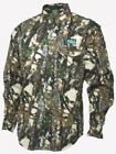 RIDGELINE KUDU BUFFALO CAMMO LONG SLEEVE HUNTING BUSH COTTON SHIRT ALL SIZES