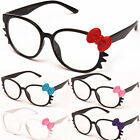 Womens Clear Lens Fashion Glasses Kitty Cat Eye Pink RX Hello 6 Colors CF1852