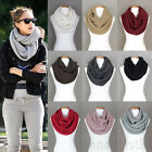 Annakastle New Womens Double Wrap Circle Ring Chunky Knit Infinity Scarf 9 Color