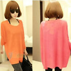 2012 Universal Wild Loose Bat Sleeve Round Neck Sweater in  Colors