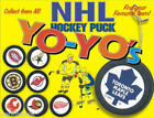 NHL HOCKEY TWO-SIDED MINI GOALIE PUCK YO-YOS GIFTS CAKE TOPPERS RETIRED IN 2001