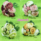 A bunch of Bridal Rose Clutch Bouquet Bridesmaid Wedding Flower Hot Sell