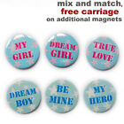 Super star lover fridge magnets. Valentine girlfriend, boyfriend. neodymium