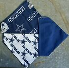 DALLAS COWBOYS HOMEMADE 2 SIDED DOG SCARF (SEE SIZES)