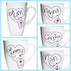 PERSONALISED LATTE MUG Birthday Mothers Day Christmas gift, Mummy Grandma Nanny