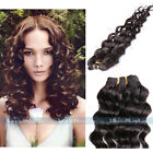 "#1B Natural Black Deep Wave Curly Remy Real Human Hair Extensions Weft 10""-24"""