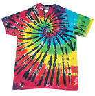 T Shirt Tie Dye all sizes Multi colour Rainbow Spiral dyed in Uk