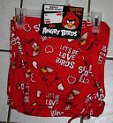 New Mens ANGRY BIRDS Red Valentine Lounge Pants ~Let's Be Love Birds~S or M