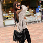 STYLISH WOMEN'S SEXY BACKLESS SHIRT BLOUSE SOFT FUR TRANSPARANT GRENADINE JUMPER
