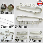 Brooch Back Pins 15mm 18mm 25mm 35mm 74mm Kilt Pins Findings Low Price ✔