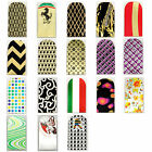 16pcs Nail Foil Nail Art Sticker Patch Nail  Wraps for Fingers & Toes 91108