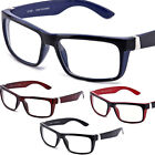 New Clear Lens Glasses Retro Thick Lens Glossy UV400 Protection 4 Colors CF1868