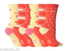 6 Pair Pack Girls Young Elle Cotton Ankle Socks, Various Colours, All Sizes