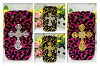Leopard Case Bling Metal Diamond Cross Cover for Samsung Galaxy S3 SIII I9300