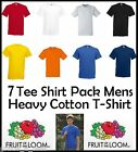 7 PACK - FOTL Fruit of the Loom Mens T-Shirt Blank Plain Cotton Top Blank New
