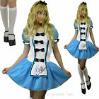 Alice in Wonderland Fancy Dress Costume Women Princess Size 8 10 12 14 16 18 20