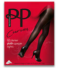 "Pretty Polly Curves Tights 60 Denier Plush Opaque Tights Fits Upto 60"" Hips BNIB"