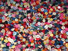 ASSORTED BAG SMALL MIXED BUTTONS MIXED COLOURS STYLES DOLL BUTTONS CRAFTS ETC