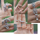 two double three single finger ring cuff topshop kpop punk gothic jewelry