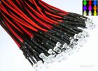 Pre-Wired 5mm LED's With Resistors Various/Quantity Colours Free UK Postage
