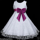 Light,Deep Mauve White UsaG w171 Bridesmaid Wedding Flower Girls Dress 2,3,4-12y